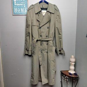 Men's London Fog Lined Belted Trench Coat
